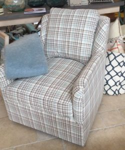 Fisher Swivel Chair in Frenzy Robins Egg