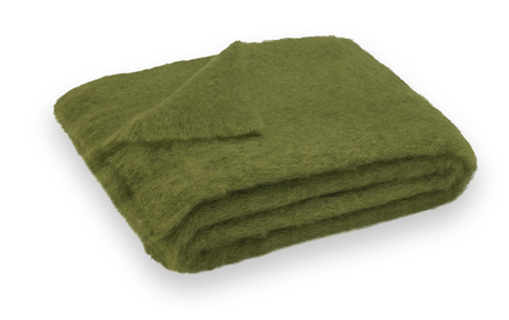 Mohair Throw Sea Green Designs LLC Amazing Olive Green Throw Blanket